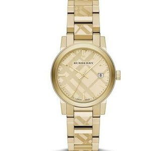 New Burberry City Gold-tone Ladies Bu9145 Watch